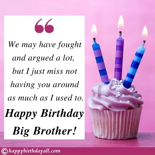 Sweet Birthday Wishes for Big brother