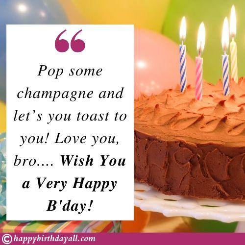 Happy Birthday Quotes Wishes for bro