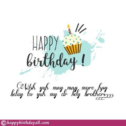 Birthday wishes Card for brother