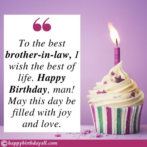 Emotional Birthday Messages for brother in law