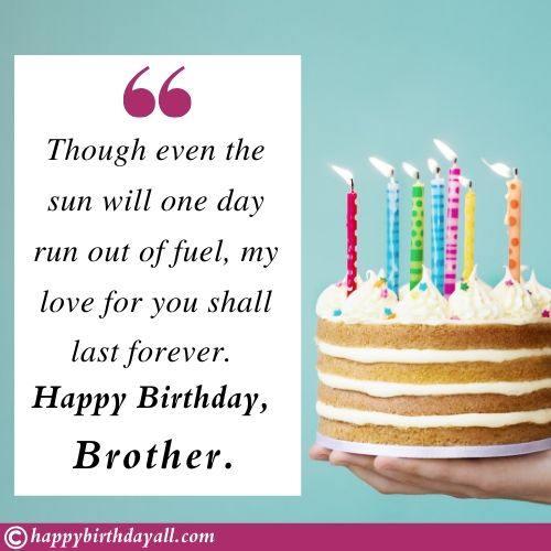 200 Heart Touching Happy Birthday Wishes For Brother Bro