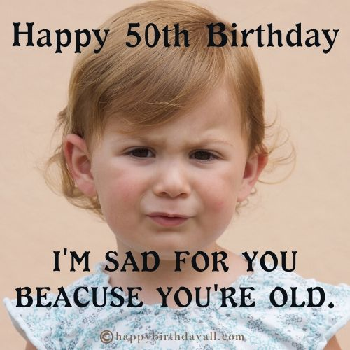Funny 50th Birthday Memes for Her