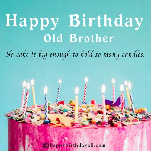 Funny Birthday Messages for Elder Brother