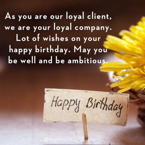 Happy Birthday Messages for Client