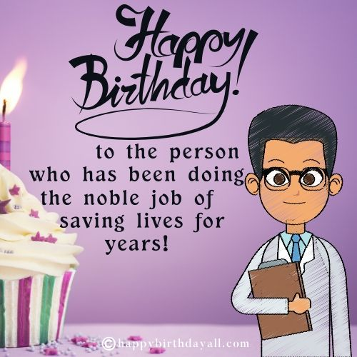 Best Birthday messages for Doctor