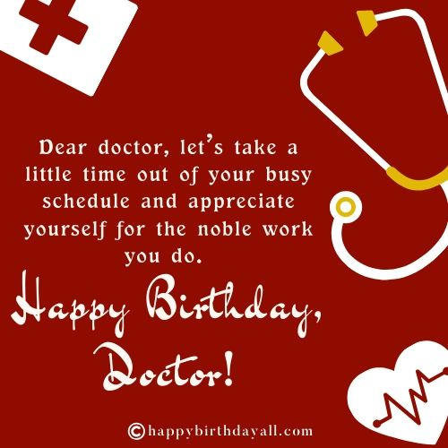 Birthday Quotes for Doctor