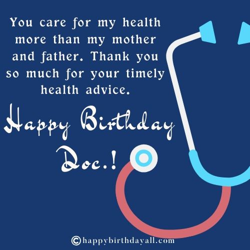 Happy Birthday Wishes for Doctor Friend