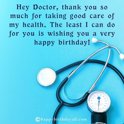 Best Happy Birthday Wishes for Doctor