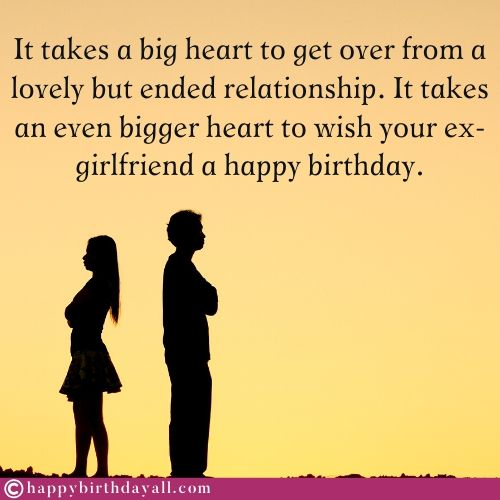 Emotional Birthday Wishes for Ex Girlfriend