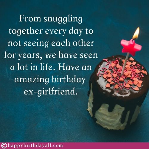 Birthday Wishes Quotes to Ex Girlfriend