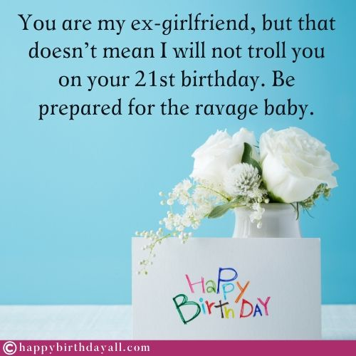 Funny Happy Birthday Messages for Ex GF