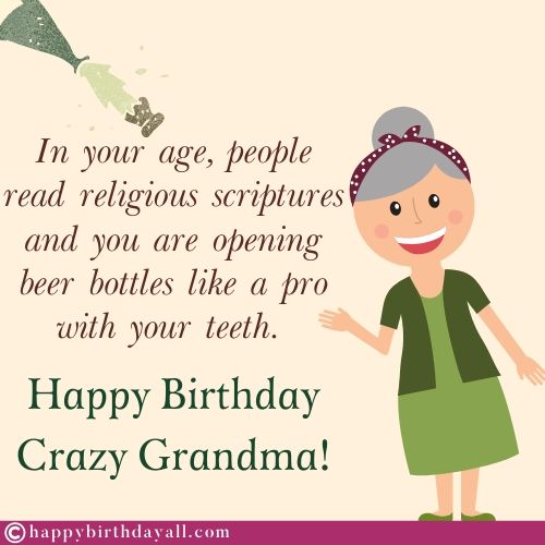 Funny Happy Birthday Wishes for Grandmother