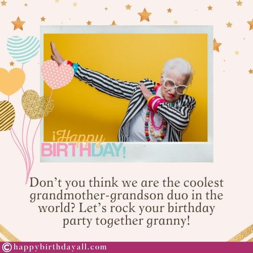 Happy Birthday Wishes for Grandmother from Granddaughter