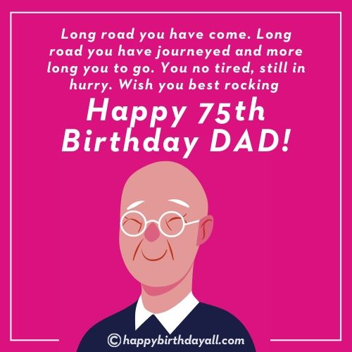 Happy Birthday Wishes for 75