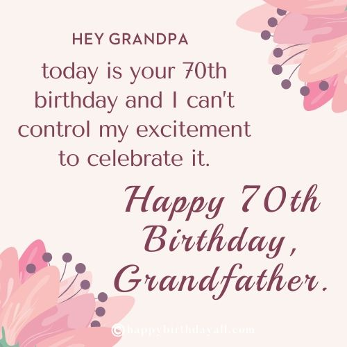 Happy Birthday Messages for Grandfather