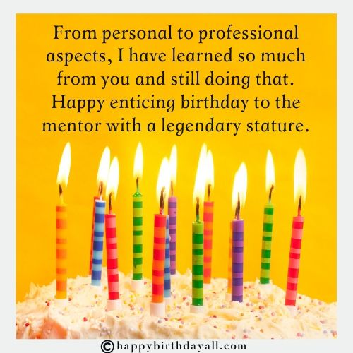 Happy Birthday Wishes for Mentor Boss