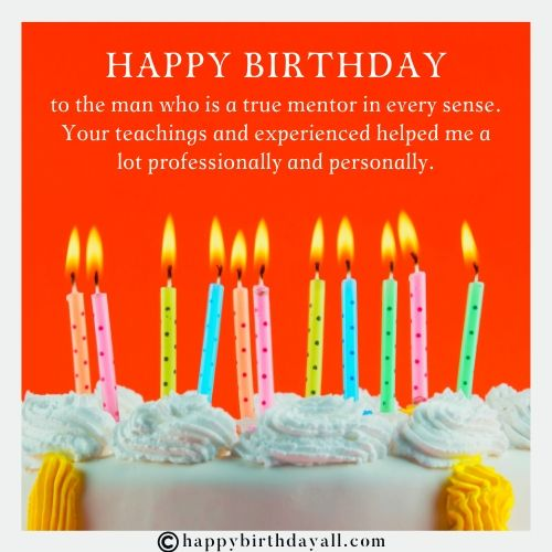 Best Happy Birthday Wishes for Mentor