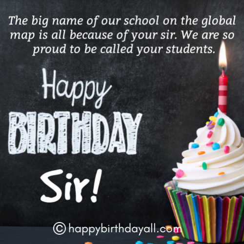 Formal Happy Birthday for Principal with Images