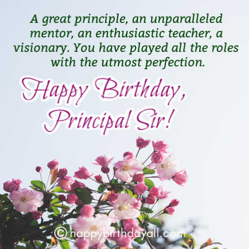31 Best Happy Birthday Wishes For Principal Sir With Images
