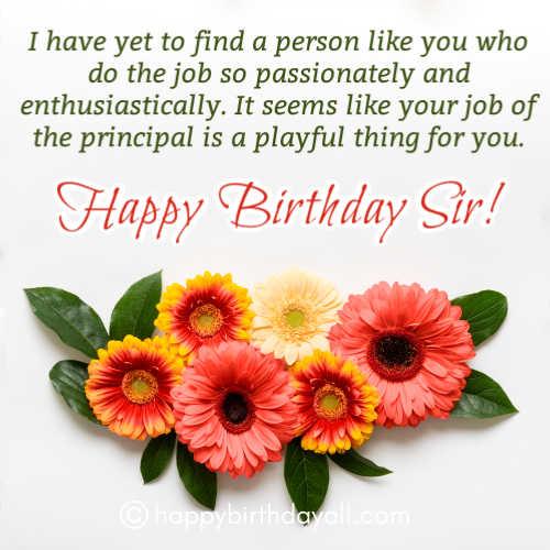 Top Happy Birthday Quotes for Principal