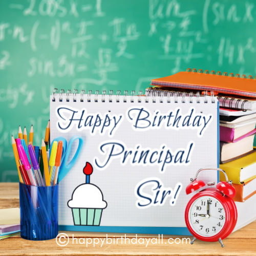 Happy Birthday Wishes for Principal   sir With Images