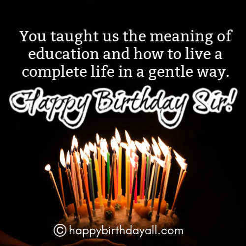 Best Happy Birthday Wishes for Principal