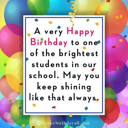 Best Happy Birthday Wishes for Students with Images