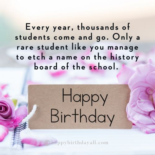 Happy Birthday Wishes for Students from School
