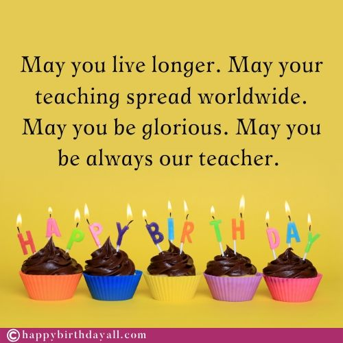 Happy Birthday Messages for Teacher With Images