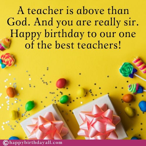 Happy Birthday Messages for Teacher