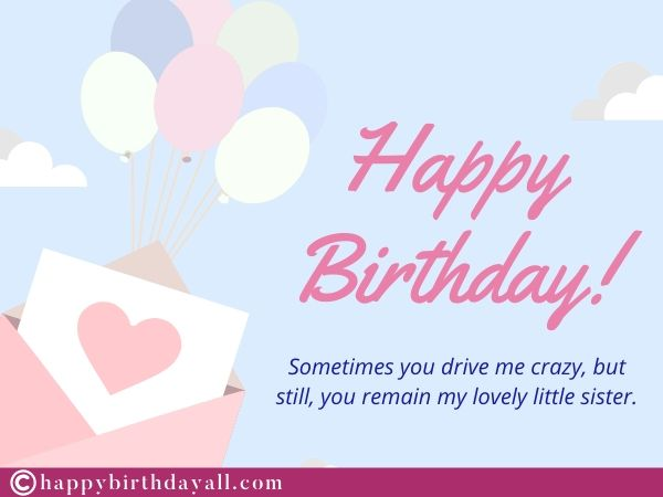funny birthday quotes for sister