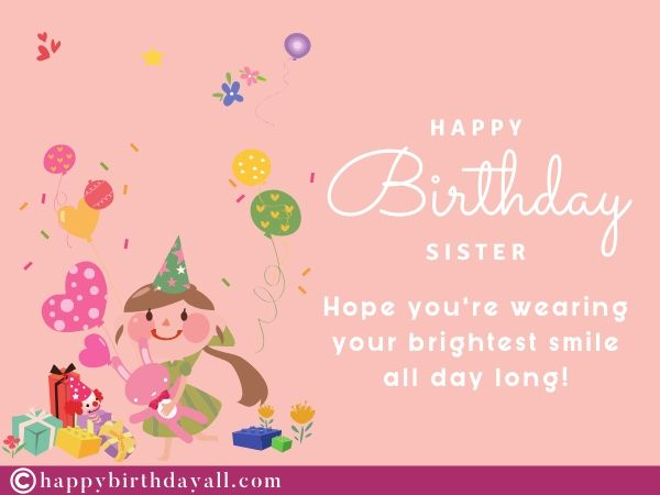 happy birthday images with quotes for sis