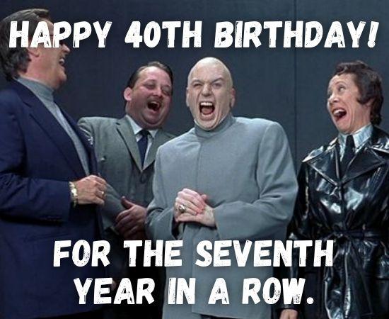 Happy 40th Birthday Memes for Him