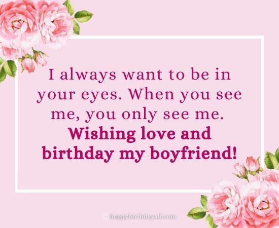 Happy Birthday Wishes for Boyfriend Miles Away