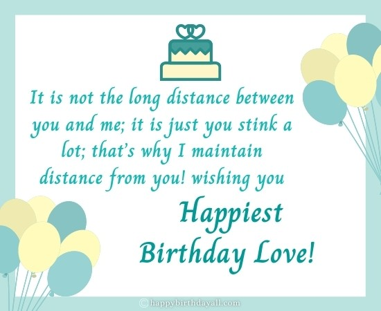 Happy Birthday Wishes For Boyfriend Long Distance With Images