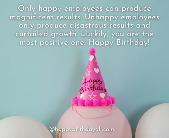 Best Birthday Wishes for Employees