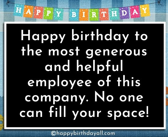 Happy Birthday Wishes for Employees from HR