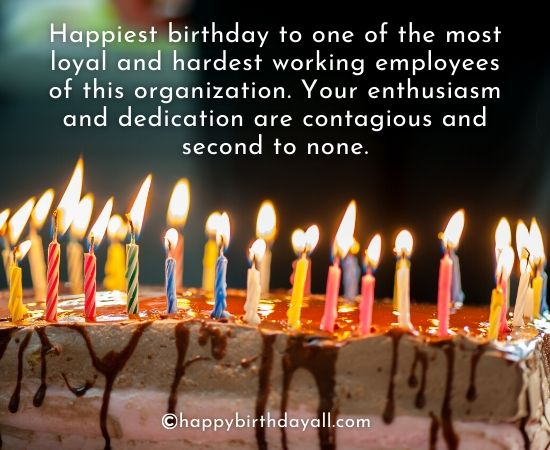 Professional Happy Birthday Wishes for Employees
