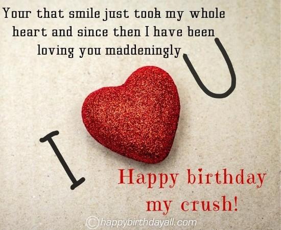 Birthday Wishes for Crush - Man