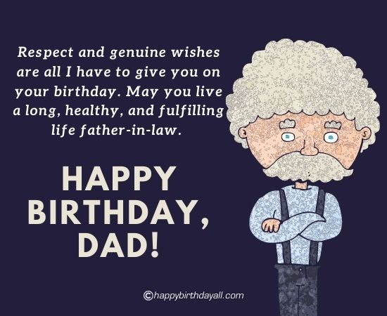 60 Happy Birthday Wishes For Father In Law With Images
