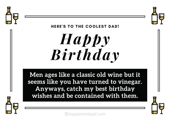 Funny Birthday Wishes for Father-in-Law