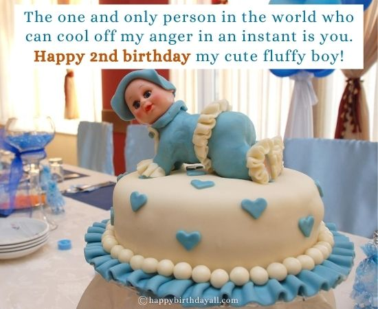 Happy 2nd Birthday Messages for 2 Year Old Baby Boy