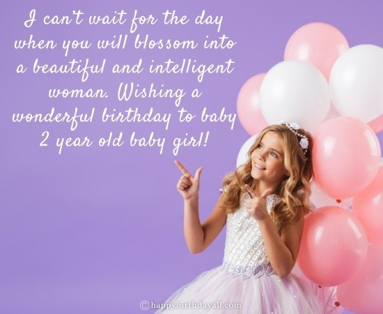 Happy 2nd Birthday Quotes for 2 Year Old Baby