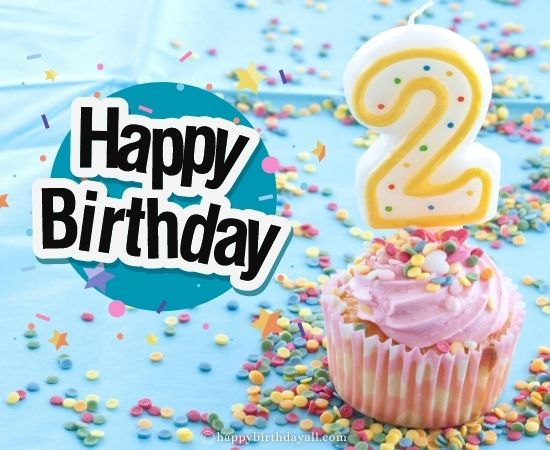 Cute Happy 2nd Birthday Wishes for 2 Year Old Baby