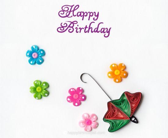 happy birthday flower umbrella