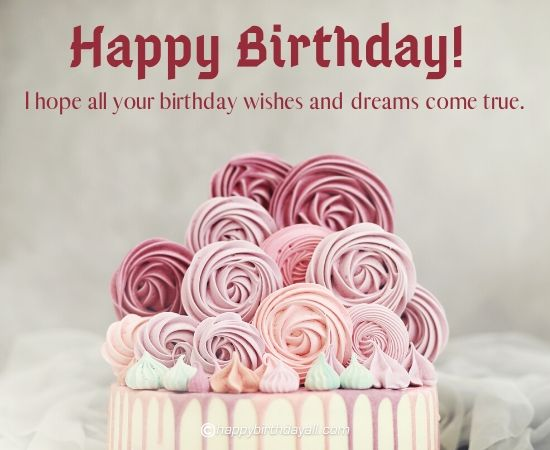 happy birthday,  i hope all you birthday wishes and dreams come true.