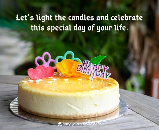 lets light the candles and celebrate this special day of your life