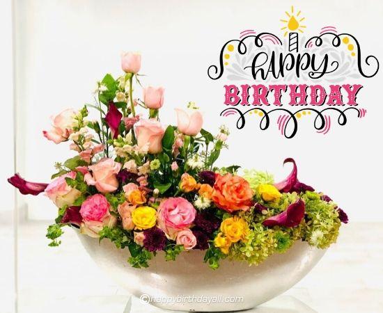 happy birthday yellow roses