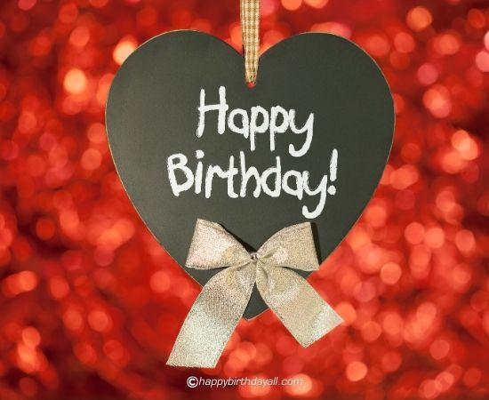 happy birthday heart image