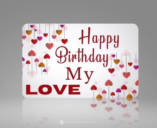 happy birthday, my love